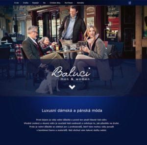 Webové studio AG25 vyrobilo webové stránky pro firmu s pánskou a dámskou módou Baluci