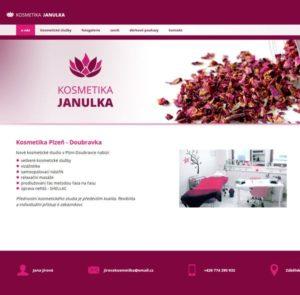 Webové studio AG25 vyrobilo designové webové stránky pro Kosmetiku Janulka Plzeň