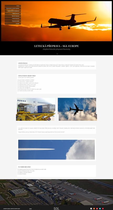SGL Logistic Europe letecká přeprava