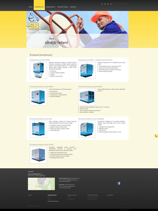 Šroubovité kompresory - SB kompresory