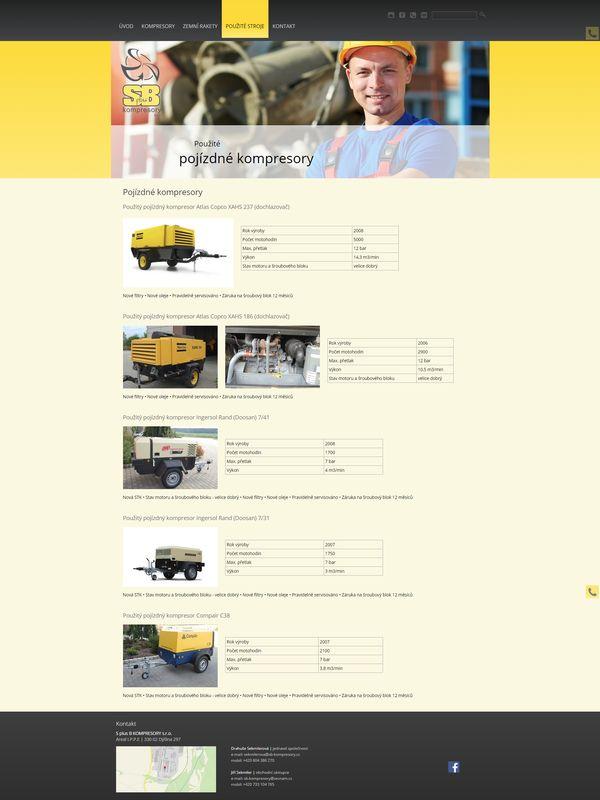 Pojízdné kompresory - SB kompresory
