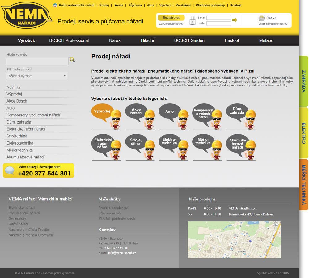 Prodej nářadí - VEMA nářadí Plzeň
