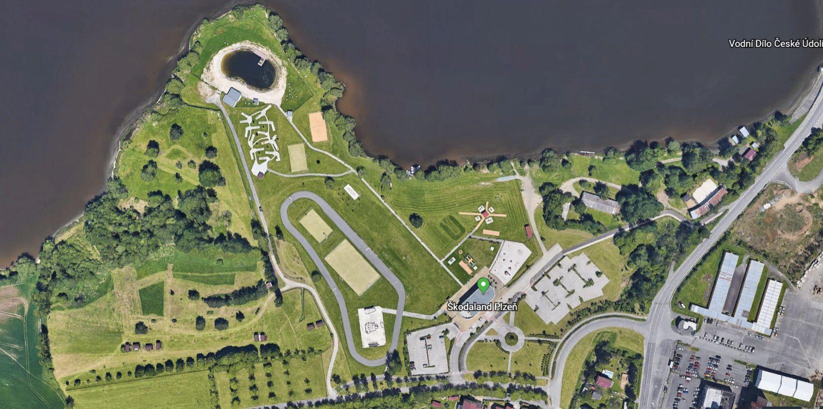 Místo konání akce ŠkodaLand Junior race - sportovní areál Škodaland Plzeň Bory