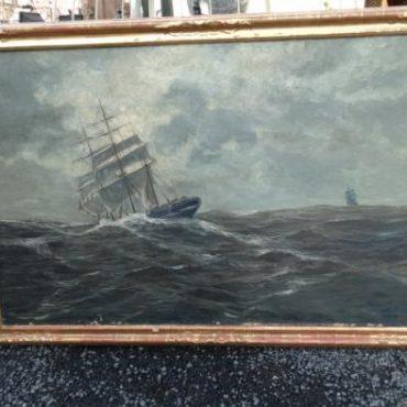 Prodej starožitných obrazů - obraz-ve-zlacenem-ramu