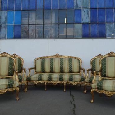 Prodej starožitností - zlacena-sedaci-souprava