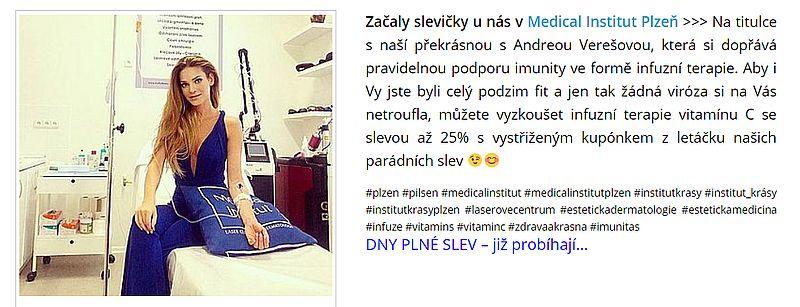 Dny Plné slev na titulce s naší překrásnou s Andreou Verešovou