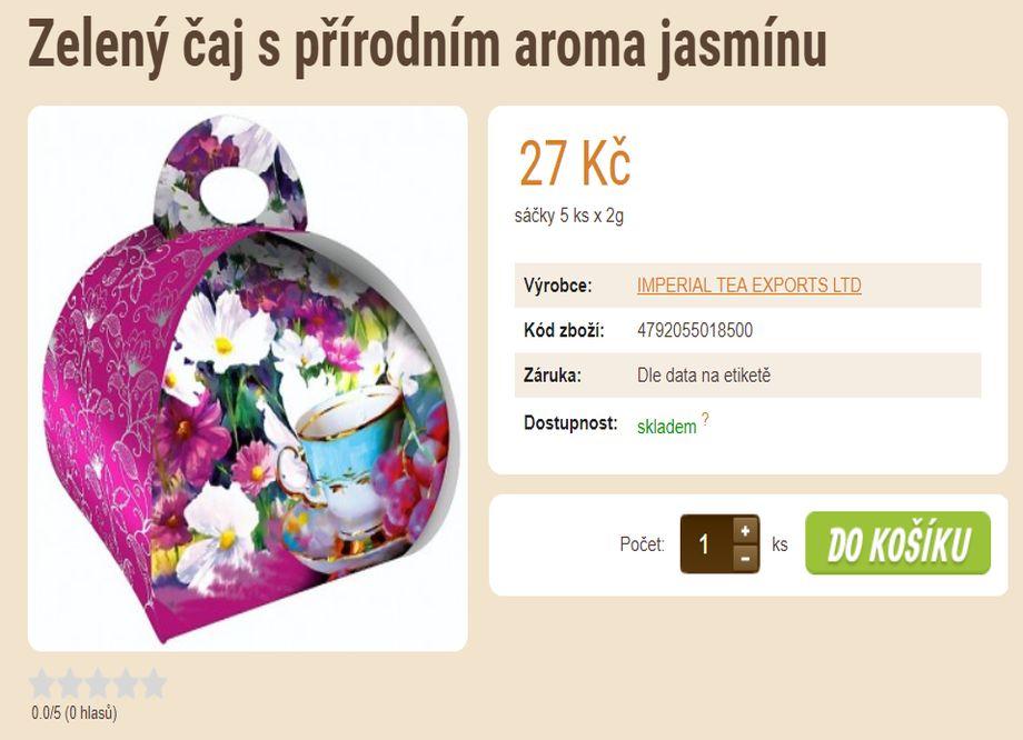 Prodej čaje - E-SHOP SE ZRNKOVOU KÁVOU A ČAJEM v Plzni