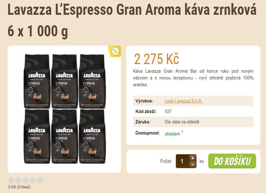 Prodej kávy - E-SHOP SE ZRNKOVOU KÁVOU A ČAJEM Plzeň