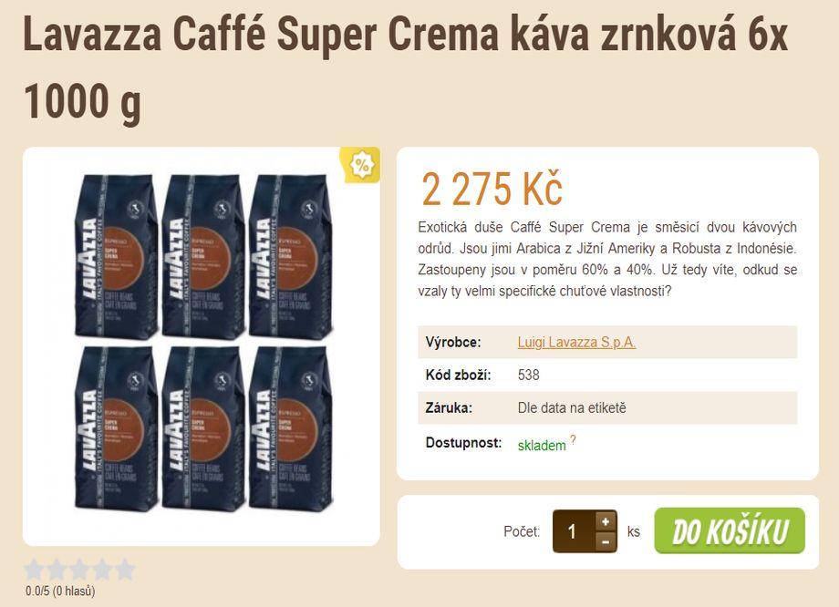 Prodej kávy - E-SHOP SE ZRNKOVOU KÁVOU A ČAJEM v Plzni