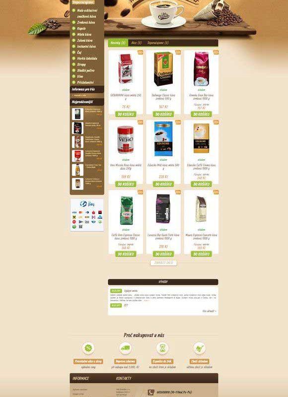 Prodej kávy VitoGrande