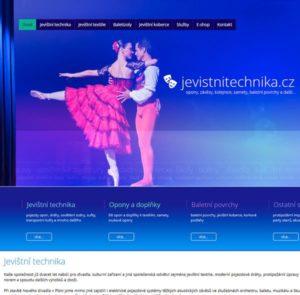 Reference tvorby webu pro firmu Jevištní technika