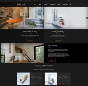 Designové webové stránky pro firmu Laminum vytvořené webovým studiem AG25