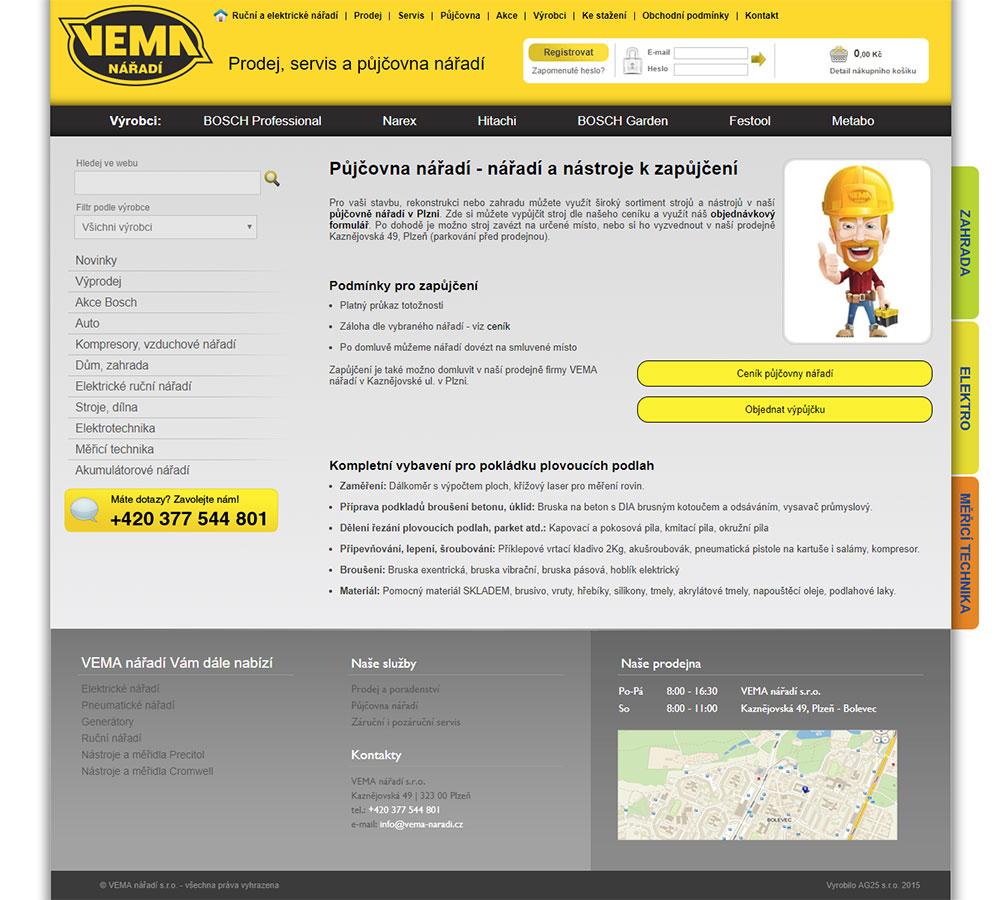 Půjčovna nářadí - VEMA nářadí Plzeň