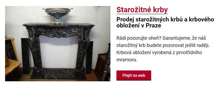 Prodej starožitných krbů v Praze