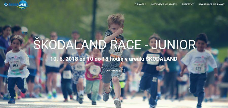 Škodaland - sportovní areál Plzeň Bory akce v Plzni pro děti Škodaland Race Junior