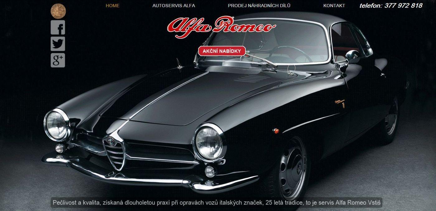 Výkup a prodej Italských automobilů Alfa Romeo - Dílny Průcha vstiš
