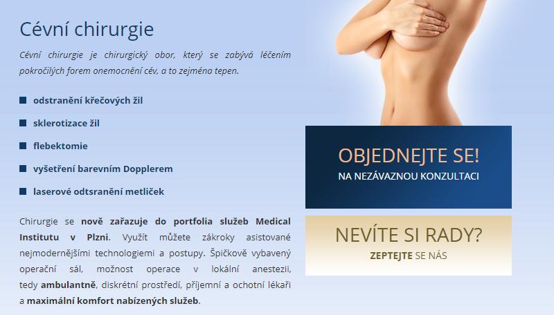 Cévní chirurgie - Medical Institut Plzeň
