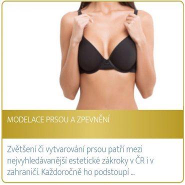 Modelace prsou a zpevnění