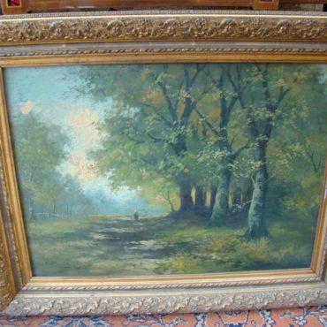 Prodej starožitných obrazů - obraz-s-romantickym-motivem