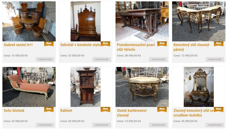 Prodej starožitností - Antik-shop Praha