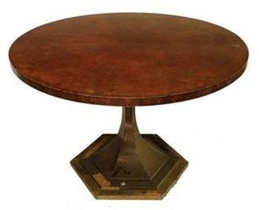 Restaurování nábytku v Praze - opravy starého nábytku - Jídelní-stůl-Art-Deco-Před-