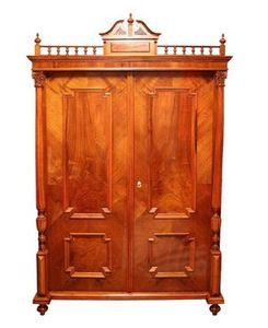 Restaurování nábytku v Praze - opravy starého nábytku - Skříň-Historismus