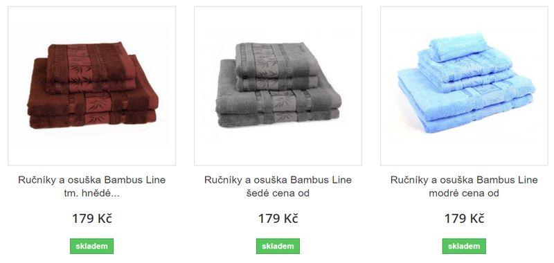 prodej ručníků.a osušek e-shop