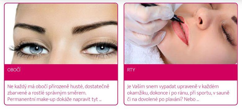 Permanentní makeup - Salón Andělské Krásy Plzeň