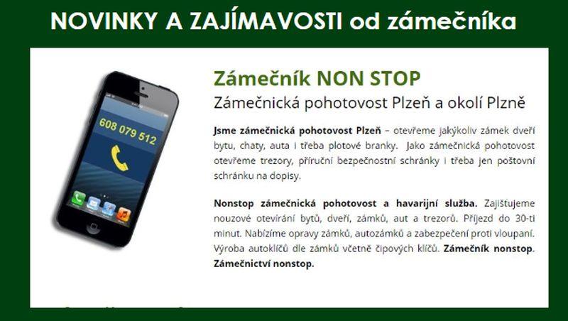 Zámečnictví - zámečník v pohotovosti v Plzni NonStop