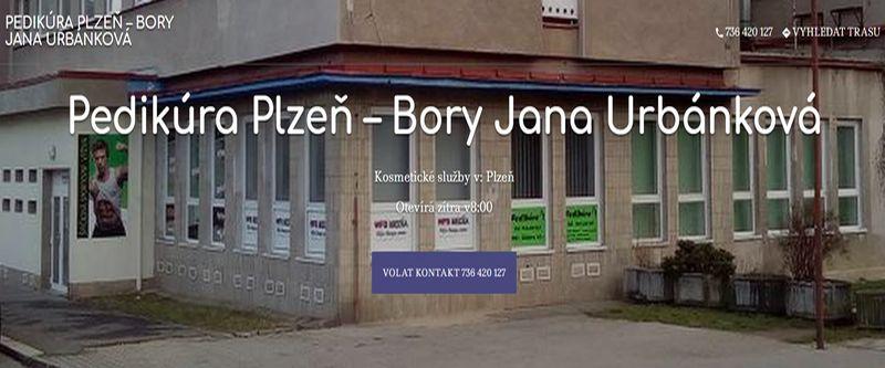 Pedikúra v Plzni na Borech - pedikúra Jana Urbánková Plzeň