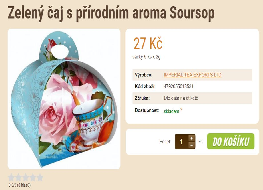 E-SHOP SE ZRNKOVOU KÁVOU A ČAJEM v Plzni