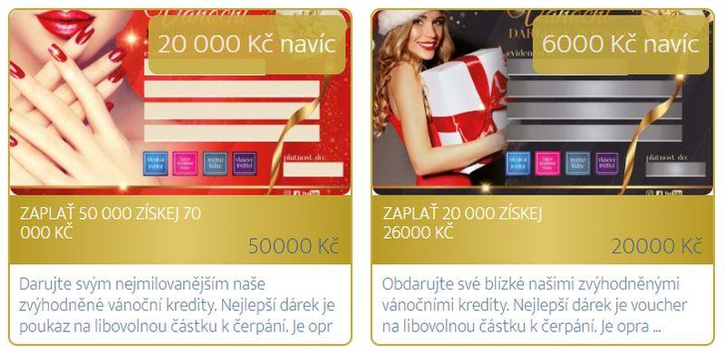 Vánoční dárkové pokazy - Plzeň - Medical Institut