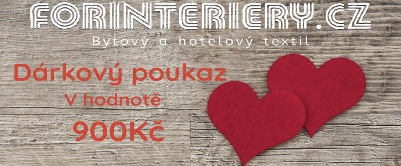 Tipy na Valentýnské dárky - dárkové poukazy od FORINTERIERY.cz