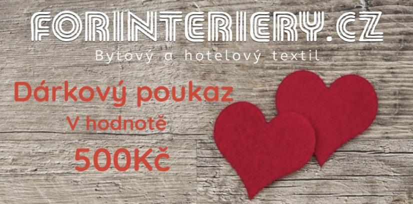 Tipy na Valentýnský dárek - Dárkové poukazy - FORINTERIERY - dárkový pokaz 500