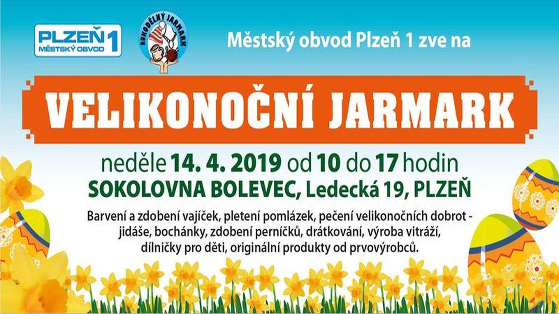 Sokolovna Bolevec Velikonoční jarmark Plzeň
