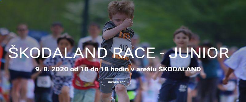 Škodaland Race Junior běžecky závod - registrace závodníků