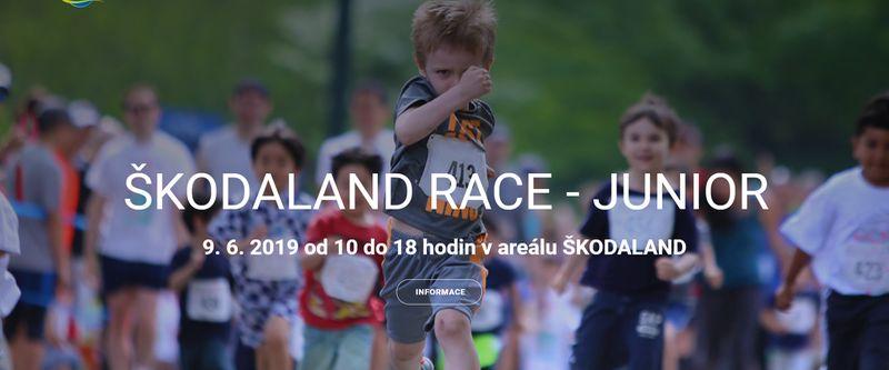 Akce v Plzni pro děti - běžecký závod - Škodaland Race Junior Plzeň 2019