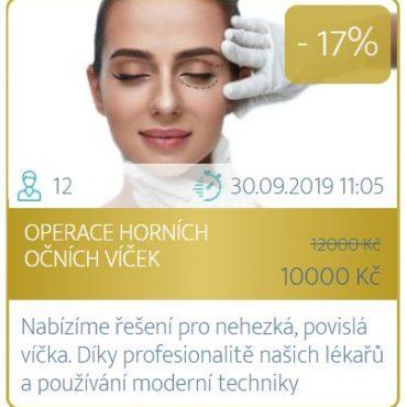 Dny plné slev v Medical Institut Plzeň - operace horních očních víček