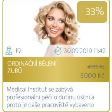 Dny plné slev v Medical Institut Plzeň - ordinační bělení zubů