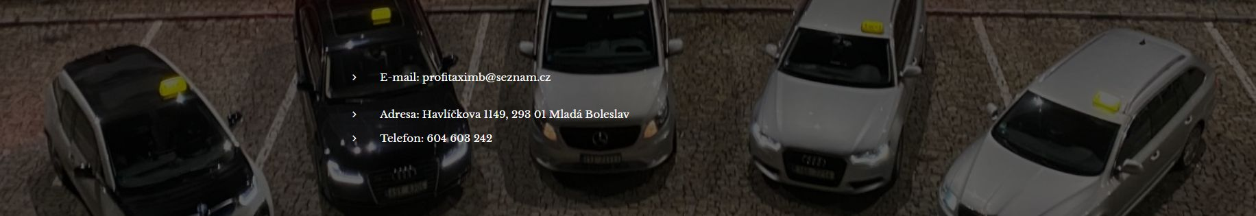 TAXI - PROFI TAXI MB - taxislužba - Taxi Mladá Boleslav