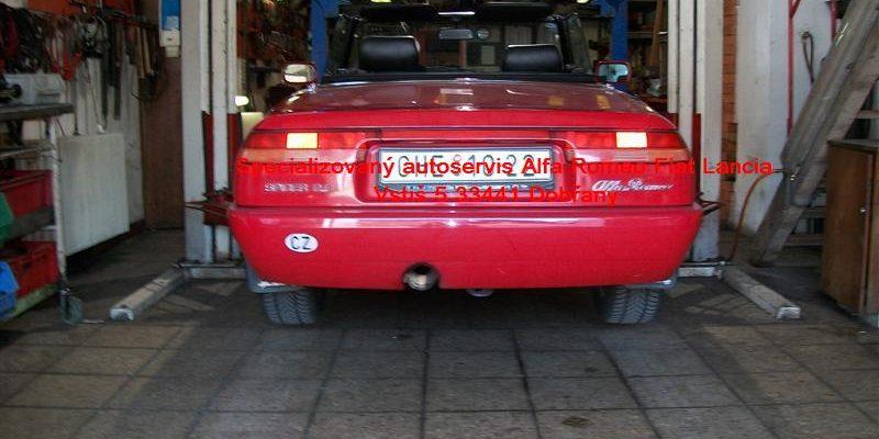 Opravy elektroinstalací Alfa Romeo - dílny Vstiš