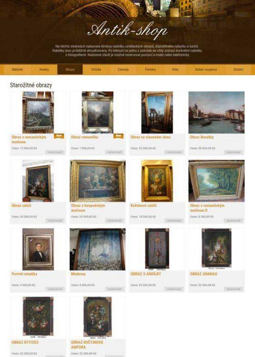 Antik shop Praha obrazy