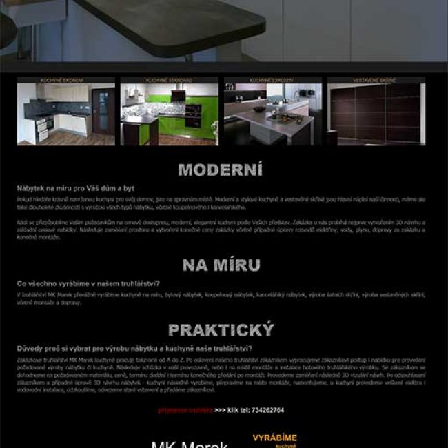 Kuchyně a interiéry MK Marek