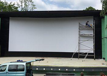 Projekční fólie, showfólie, kinoplátna - Jevištní technika Plzeň